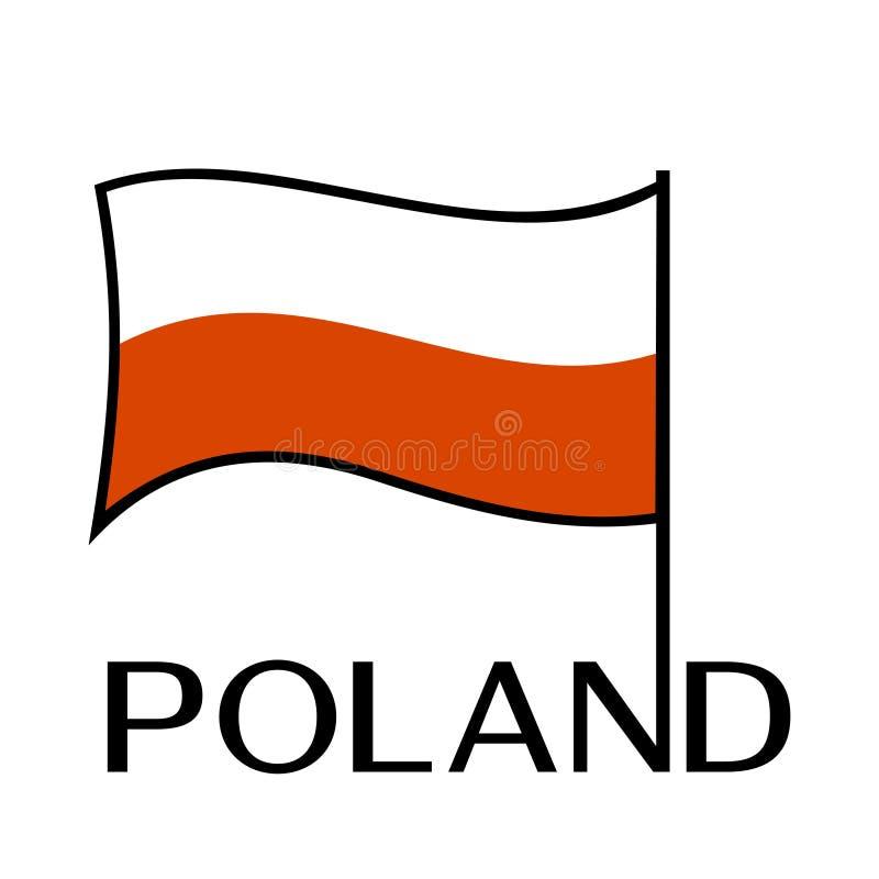 Bandeira nacional do Polônia Ilustração do vetor ilustração do vetor