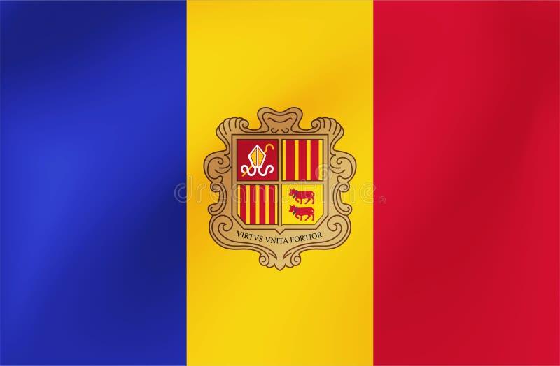 Bandeira nacional do vetor de Andorra Ilustra??o para eventos da competi??o de esportes, os tradicionais ou do estado ilustração royalty free