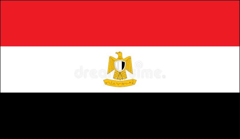 Bandeira nacional egípcia ilustração royalty free