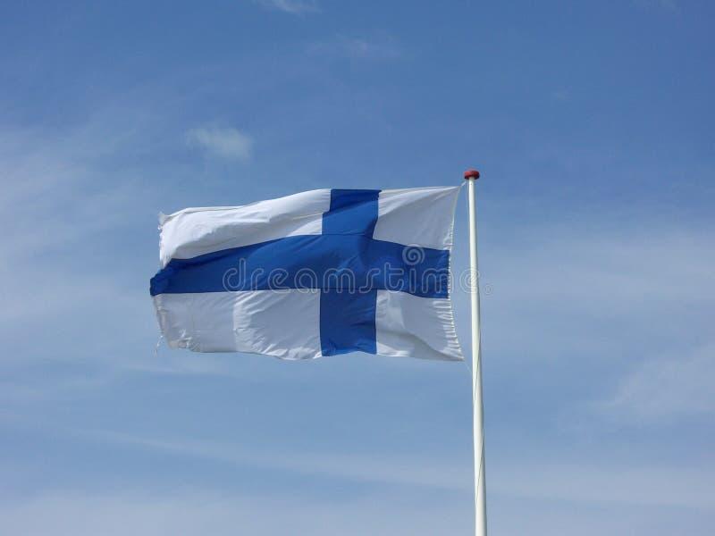 Bandeira nacional finlandesa imagem de stock