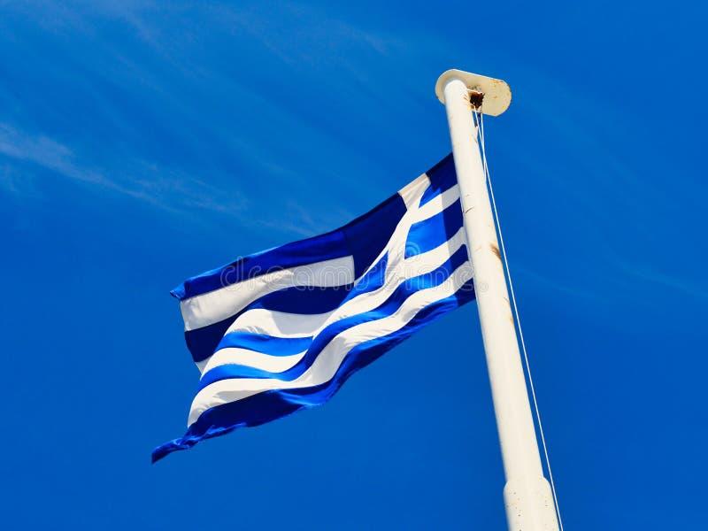 Bandeira nacional grega azul e branca fotos de stock