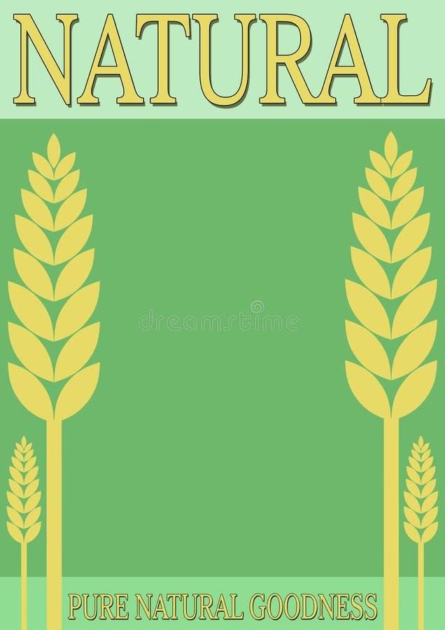 Bandeira natural do estilo de vida ilustração royalty free