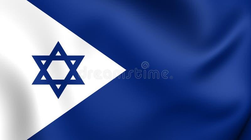 Bandeira naval de Israel ilustração royalty free