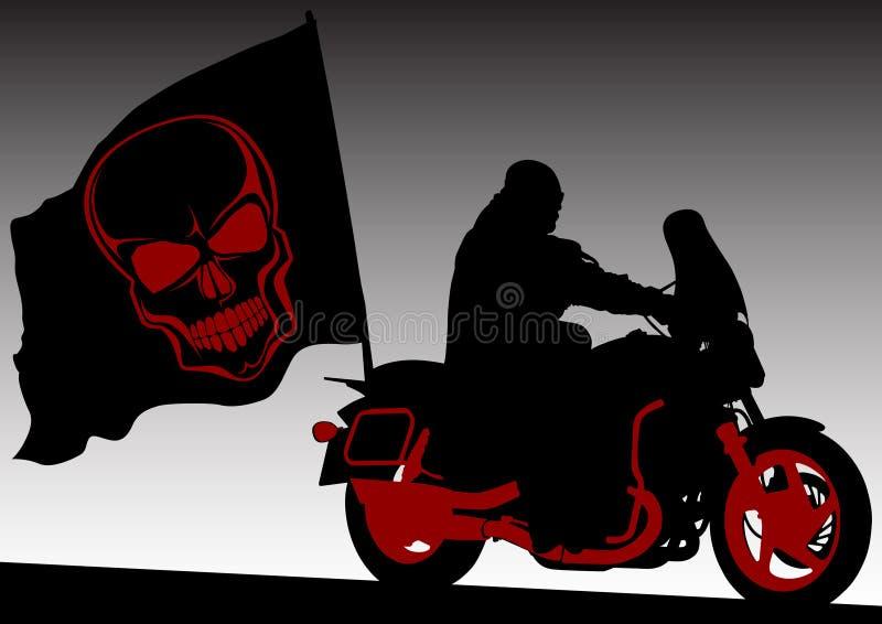 Bandeira negra ilustração stock