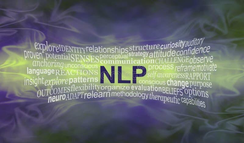 Bandeira Neuro da nuvem da palavra da programação lingüística ilustração royalty free
