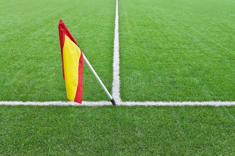 Bandeira no campo do rugby imagem de stock