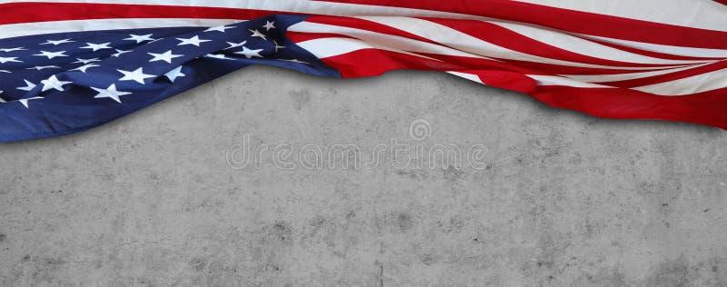 Bandeira no concreto fotos de stock