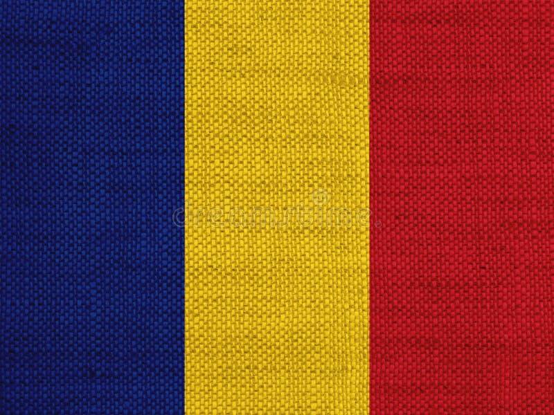 Bandeira no linho velho imagem de stock