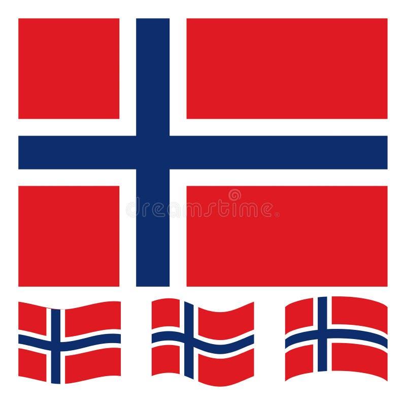 Bandeira norueguesa ilustração stock