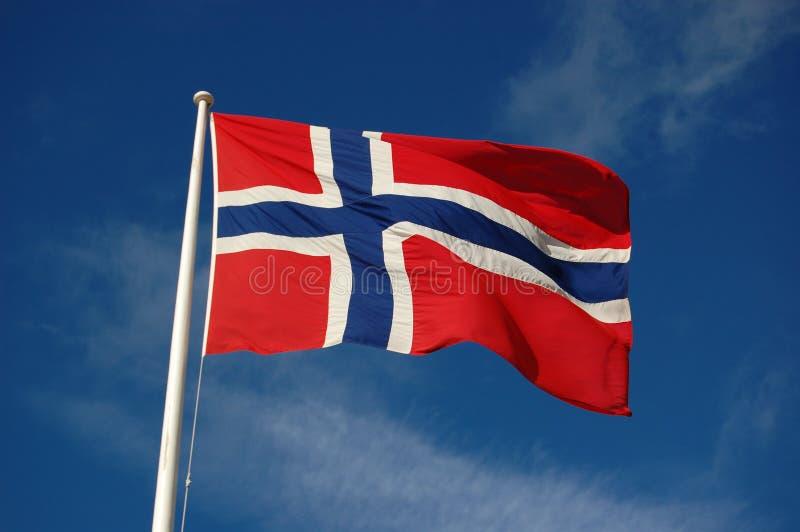Bandeira norueguesa fotografia de stock