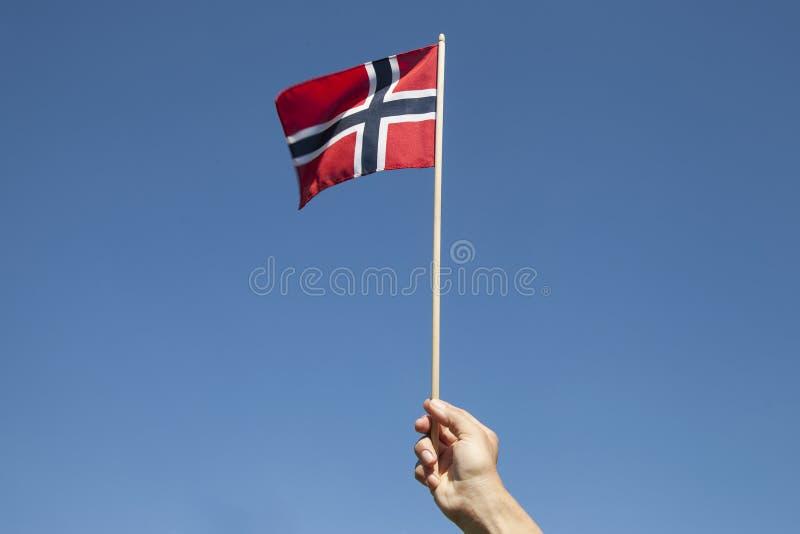 Bandeira norueguesa fotos de stock royalty free