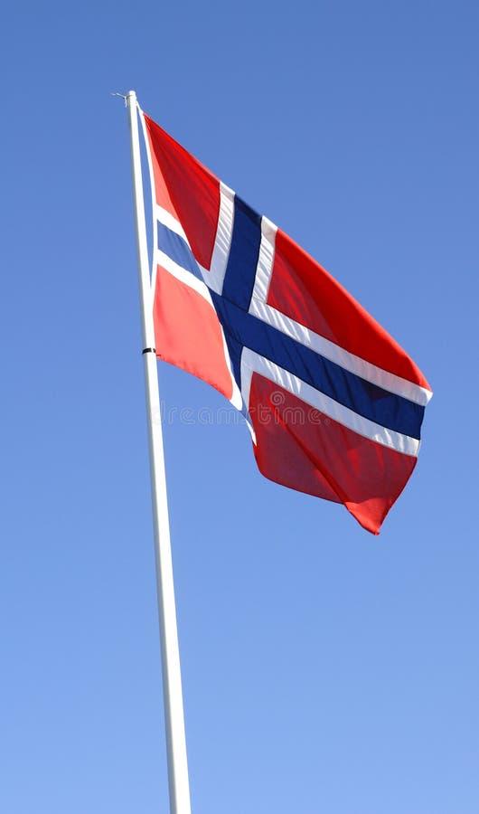 Bandeira norueguesa imagens de stock