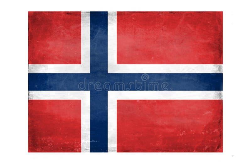 Bandeira norueguesa destruída ilustração do vetor