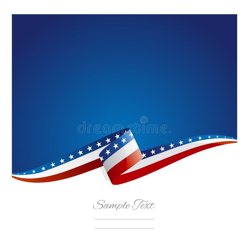 Bandeira nova da fita da bandeira dos EUA do sumário ilustração do vetor