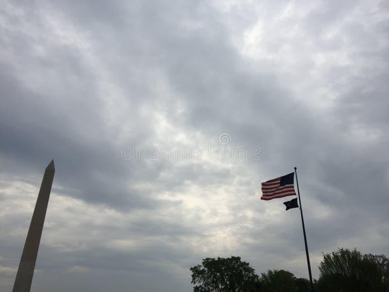 Bandeira Obilisk dos EUA do Washington DC fotos de stock royalty free