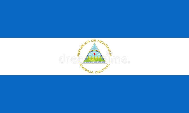 Bandeira oficial do vetor de Nicarágua ilustração stock