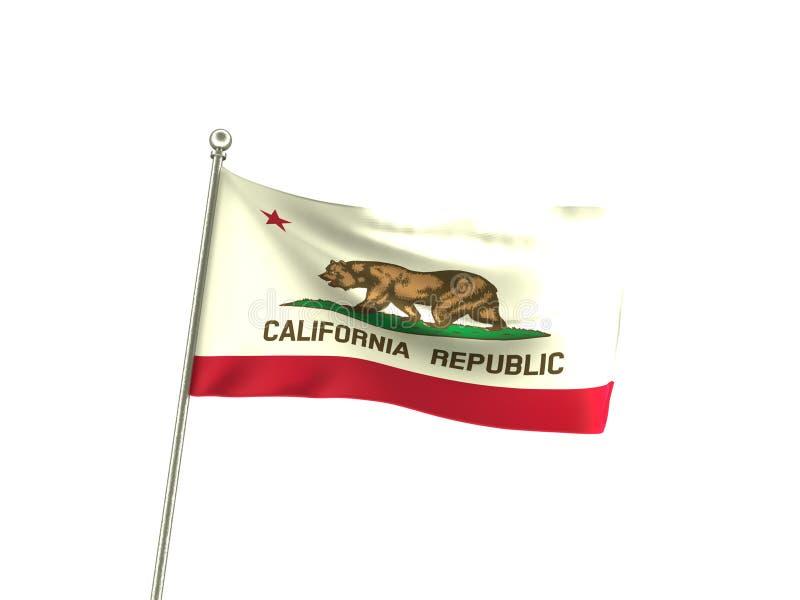 Bandeira ondulada de Califórnia ilustração stock