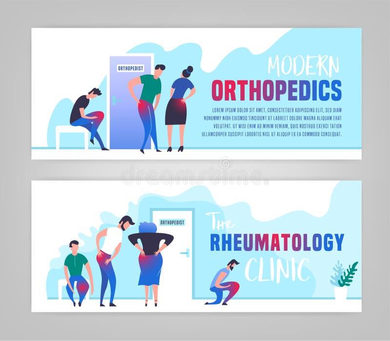 Bandeira ortopédica da clínica ilustração do vetor