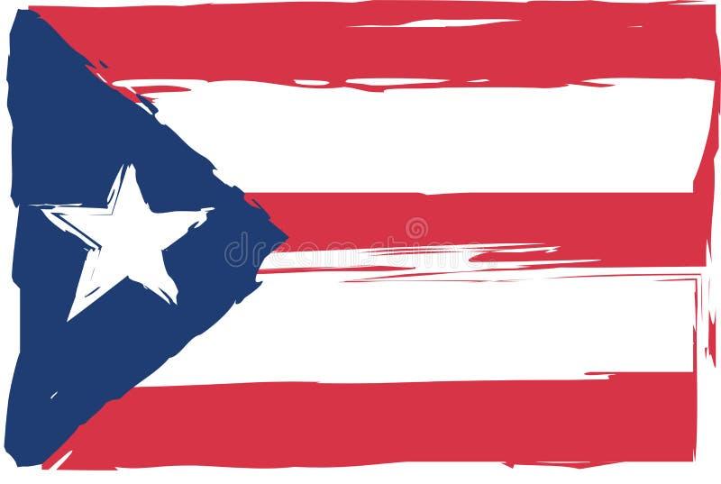 Bandeira ou bandeira de PORTO RICO do Grunge ilustração do vetor