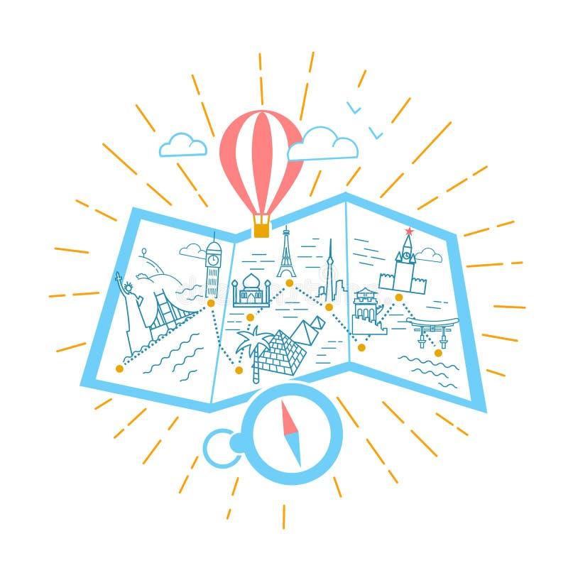 Bandeira para anunciar o compasso do curso ilustração royalty free