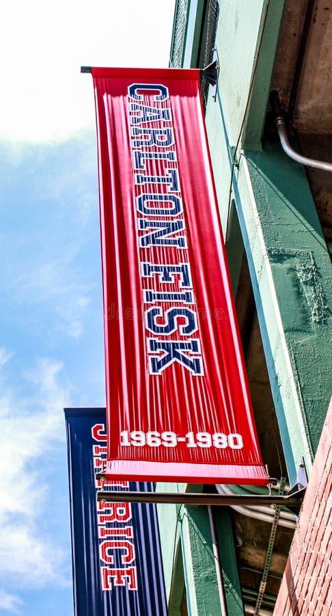 Bandeira para Carlton Fisk imagens de stock royalty free