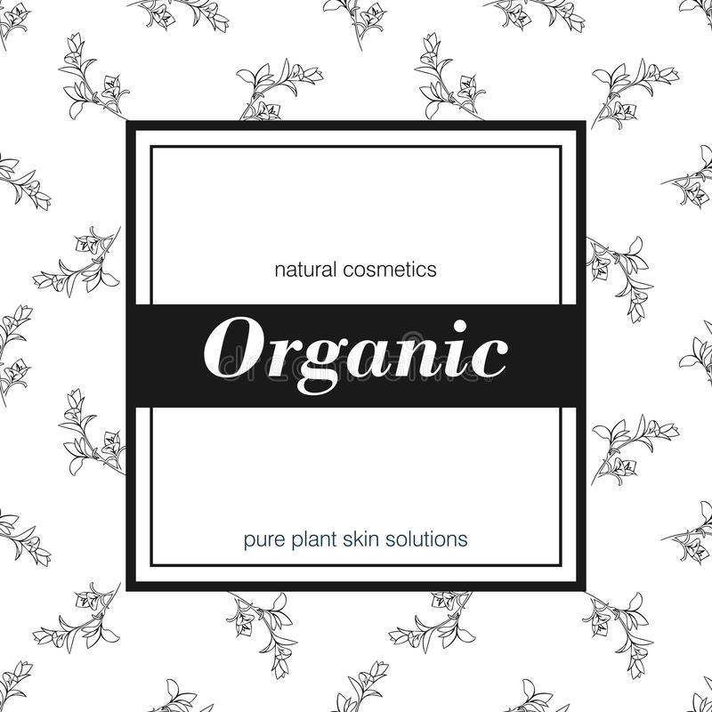 Bandeira para a loja orgânica Vector a ilustração floral ilustração stock