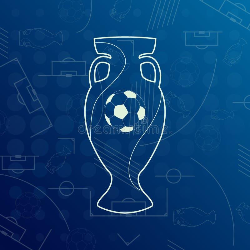 Bandeira para o campeonato 2016 de FIFA do mundo do Euro foto de stock royalty free