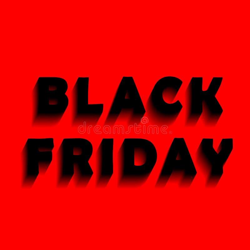 Bandeira para vendas de Black Friday imagens de stock