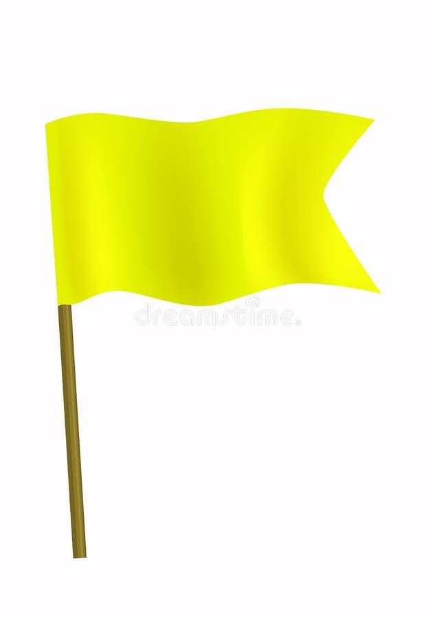 Bandeira pequena amarela imagens de stock