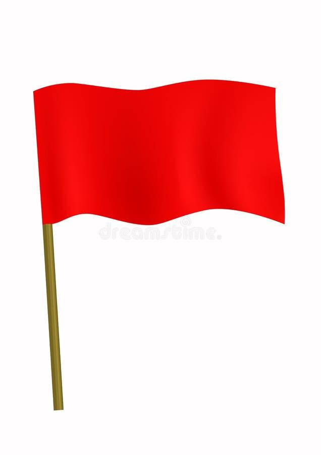 Bandeira pequena vermelha ilustração stock