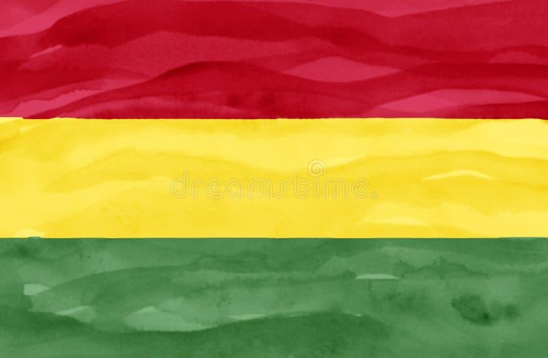 Bandeira pintada de Bolívia fotos de stock royalty free