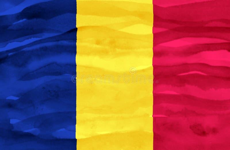 Bandeira pintada de Chade foto de stock royalty free