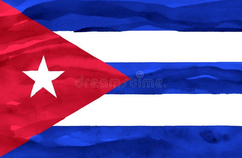 Bandeira pintada de Cuba fotografia de stock