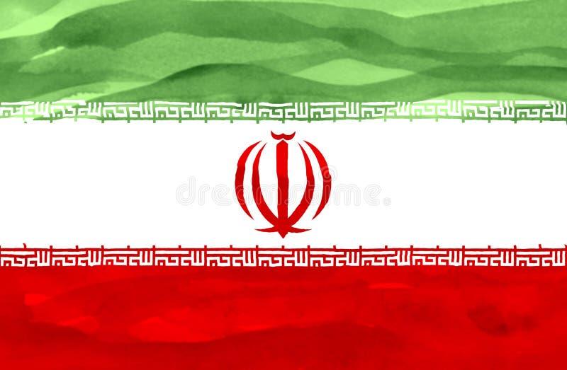 Bandeira pintada de Irã foto de stock