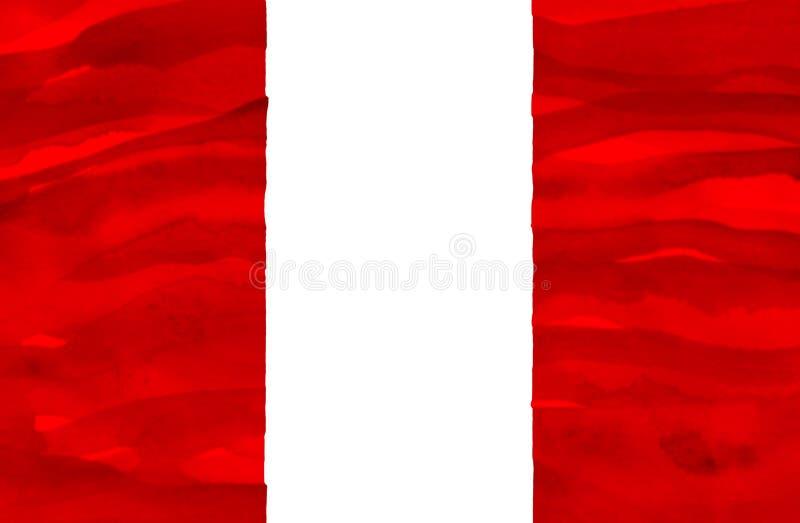 Bandeira pintada do Peru imagens de stock