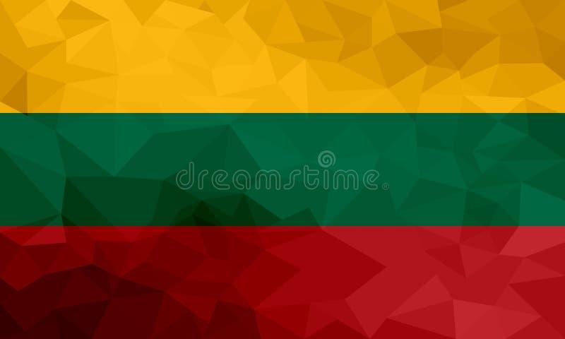 Bandeira poligonal de Lituânia Fundo moderno do mosaico Projeto geométrico ilustração royalty free