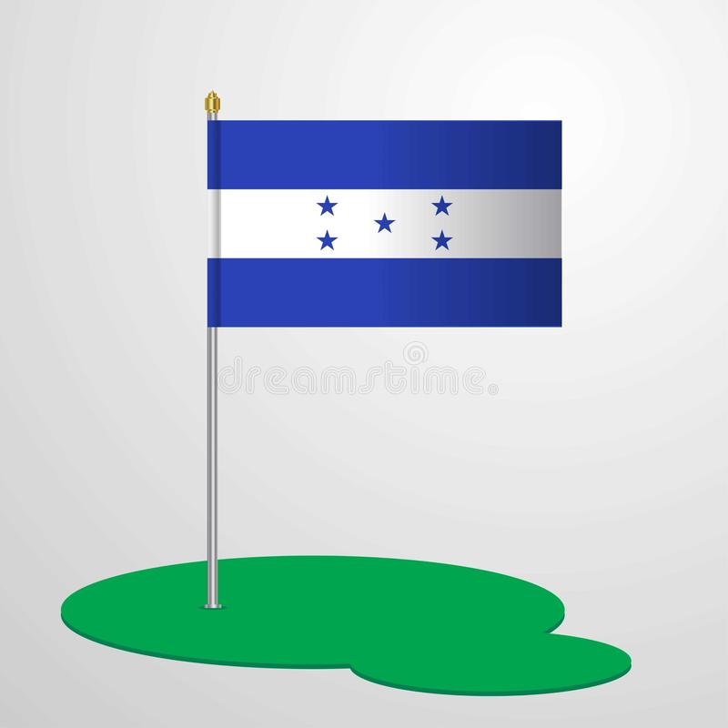 Bandeira polo das Honduras ilustração do vetor