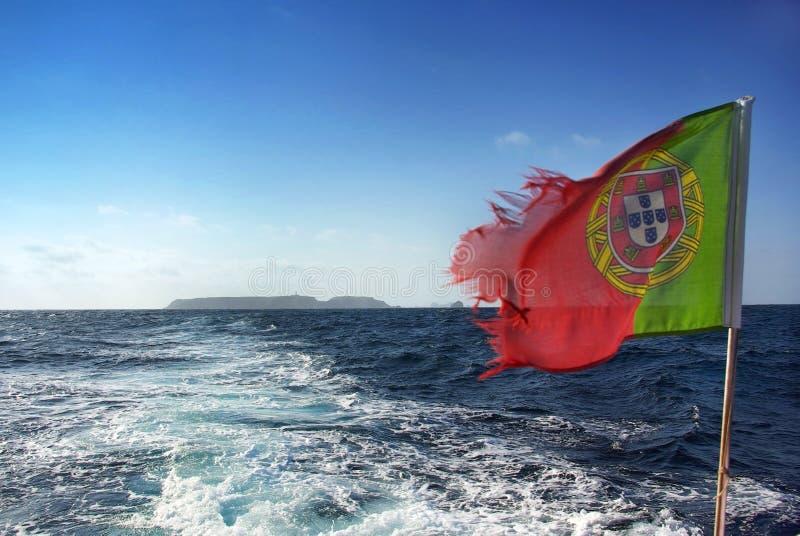 Bandeira portuguesa. foto de stock