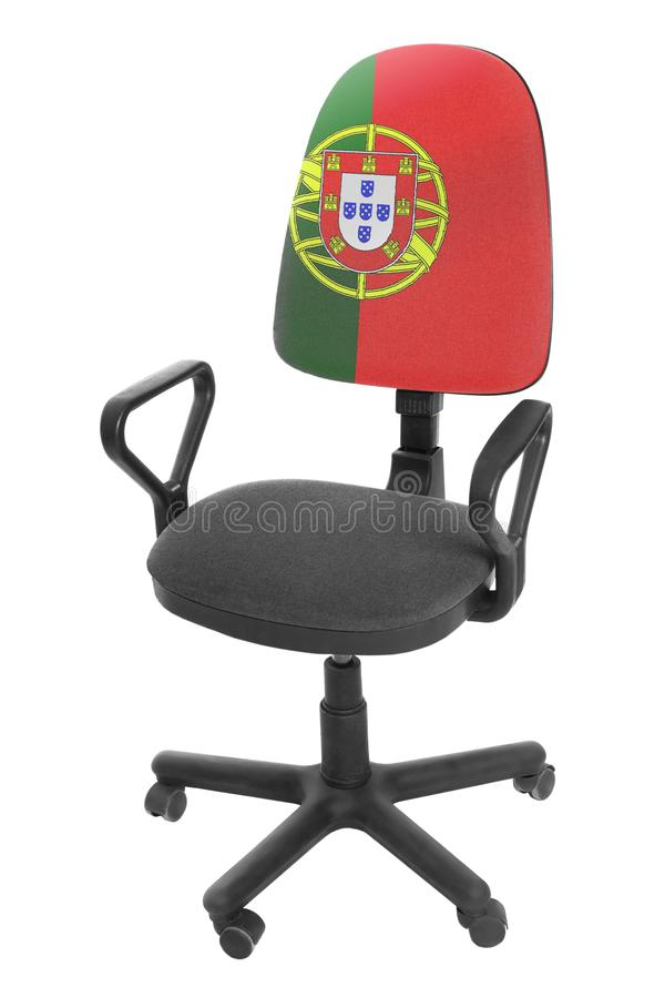 A bandeira portuguesa fotografia de stock royalty free