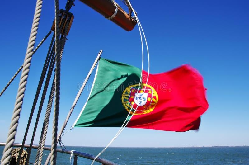 Bandeira portuguesa imagens de stock