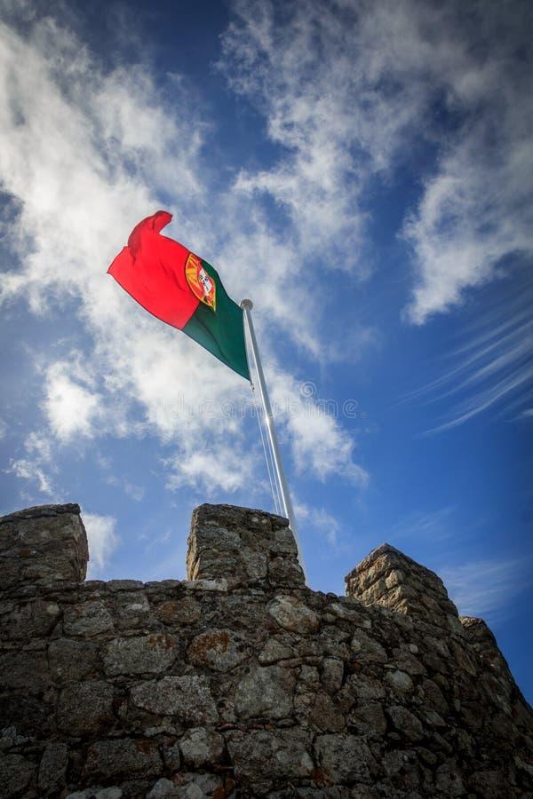 Bandeira portuguesa fotografia de stock royalty free