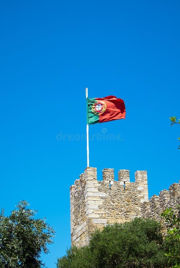 A bandeira portuguesa imagens de stock