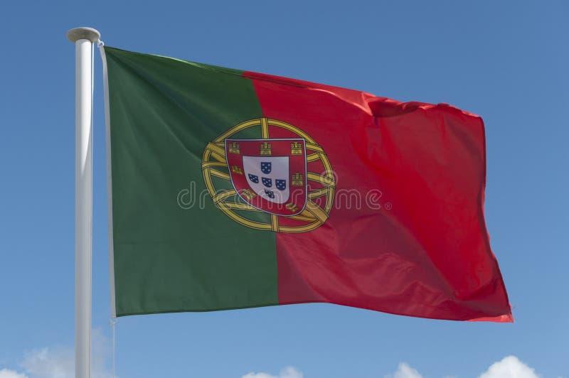 Bandeira portuguesa fotografia de stock