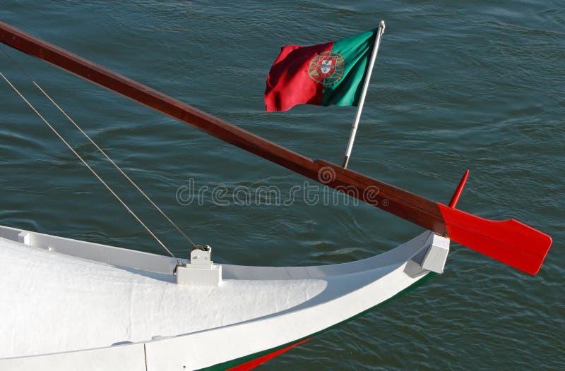 Bandeira portuguesa foto de stock