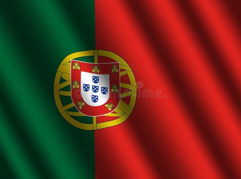 Bandeira portuguesa com ondinhas ilustração royalty free