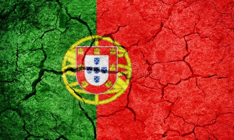 Bandeira portuguesa da república fotos de stock royalty free