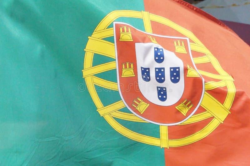 Bandeira portuguesa no close-up - Europa foto de stock