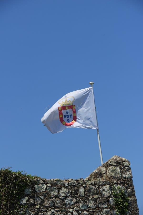 Bandeira portuguesa velha fotos de stock