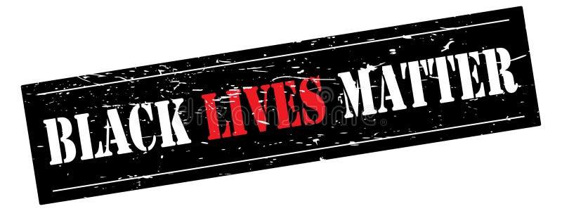 Bandeira preta da matéria das vidas
