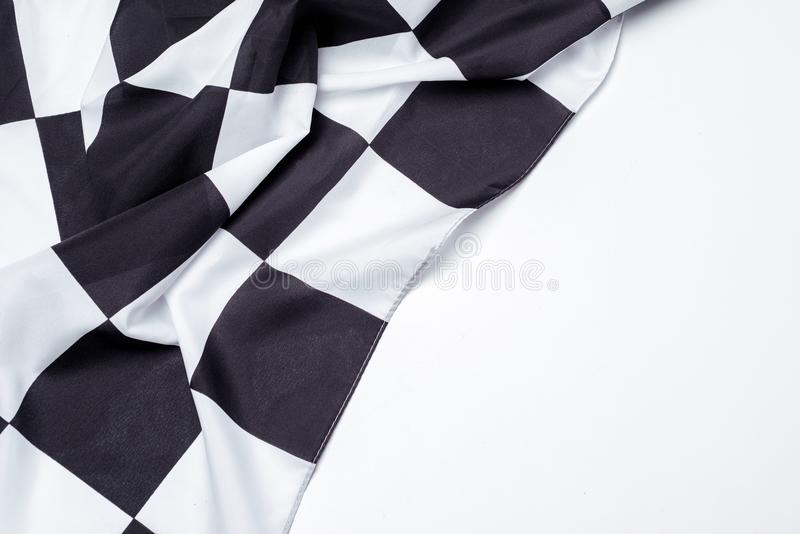 Bandeira preto e branco Checkered Copie o espaço foto de stock